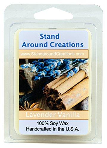 100% Soy Wax Melt Tart - Lavender Vanilla- A blend of herbal lavender w/ calming vanilla. Made w/ natural essential oils, including Lavender 3oz. (Tart Lavender)