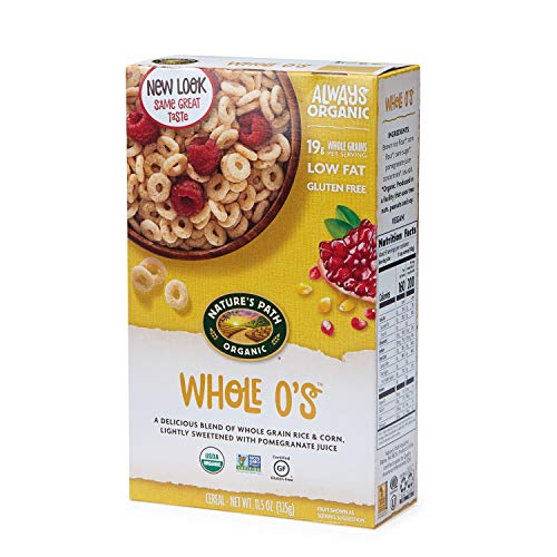 Nature's Path Whole O's Cereal, Healthy, Organic, Gluten-Free, Low Sugar, 10.6 Ounce Box (Pack of - Ounce 10.6 Cereal