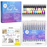 Klossers Water Color Marker Pen Brush Set with Book for Coloring and Lettering