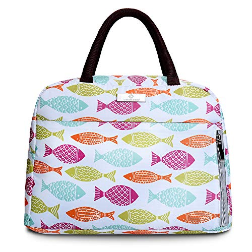 - Lunch Bag InsulatedLunch BoxTote Bag Lunch Organizer Lunch HolderFor Women/Men/Beach/Party/Boating/Office/Fishing/Picnic(White)