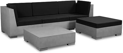 vidaXL Conjunto de sofás de jardín Exterior 14 pcs hormigón salón de jardín: Amazon.es: Hogar