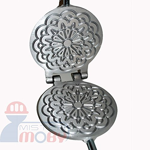 Mistermoby Traditional Italian Cookies Maker Machine Pizzelle Waffle Wafer...
