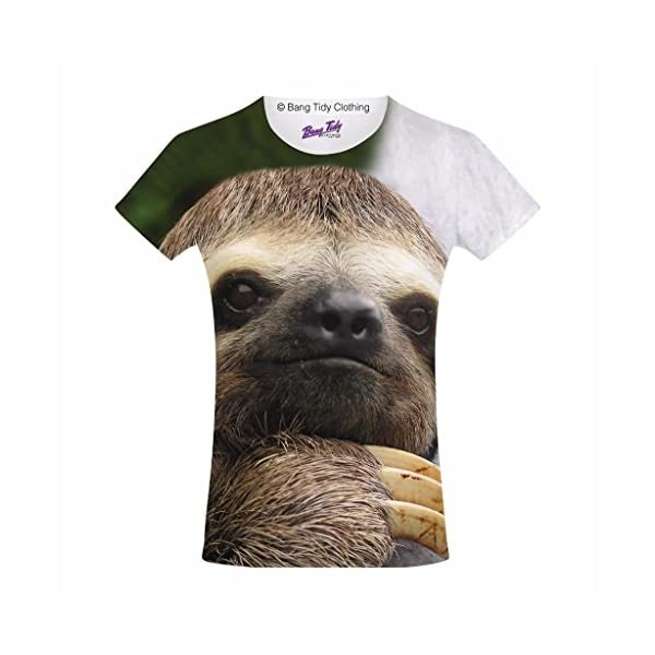 Bang Tidy Clothing Kids Graphic Tee Youth T Shirt Sloth Face Clothes For Girls -