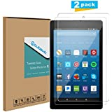 Tempered Glass Screen Protector for Amazon All-New Fire HD 8 Tablet 2017, [2-Pack] Cubevit Fire HD 8 7th Screen Protector Glass, Bubble Free/ 9H/ Scratch Proof Glass Screen for Fire HD 8 2017 Release