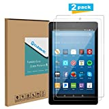 Image of Tempered Glass Screen Protector for Amazon All-New Fire HD 8 Tablet 2017, [2-Pack] Cubevit Fire HD 8 7th Screen Protector Glass, Bubble Free/ 9H/ Scratch Proof Glass Screen for Fire HD 8 2017 Release