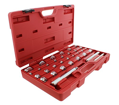ABN Master Bushing Driver 33-Piece Set  Metric & Standard SAE Bushing, Bearing, Seal Removal & Installation Tool Kit