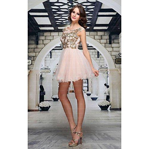 Festamo bei Ball Design Für Rosa Volant Mini Damen Kleid Ital B4axw7rBqW