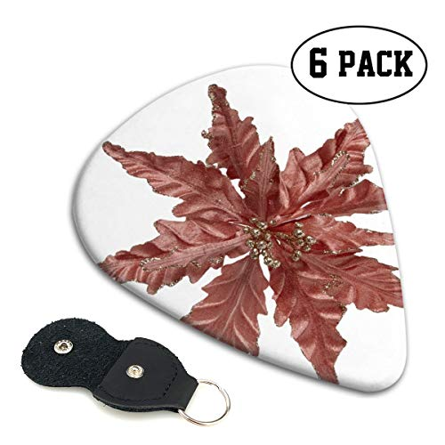 (Christma Poinsettia Turquoise Rose Gold Small Medium Large 0.46 0.71 0.96mm Mini Flex Assortment Celluloid Top Classic 351 Rock Electric Acoustic Guitar Pick Accessories Variety Pack Collectors)