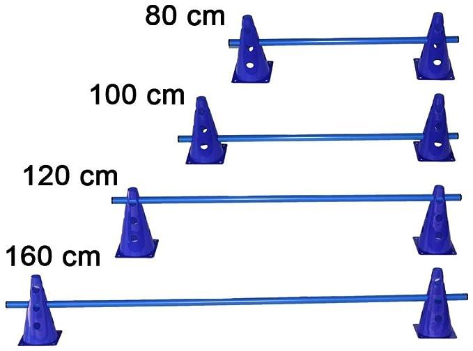 blau // 1x Stange: 120 cm blau 2X MZK: 23 cm Boje Sport Steckh/ürde f/ür Koordinationstraining