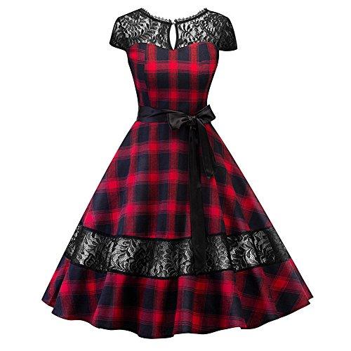 80s red prom dress - 3