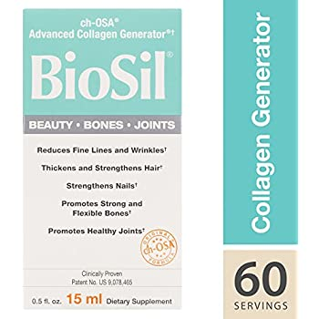 BioSil by Natural Factors, Beauty, Bones, Joints Liquid, Supports Collagen Production for Hair, Skin and Nails, Vegan, 0.5 fl oz (60 Servings) (FFP)