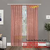 2PCS Rose Gold Sequin Curtain Backdrop-W60xL250cm Shimmer Sequin Fabric Photography Backdrop Luxury Curtains for Bedroom Window Curtains Living Room Elegant Drapes Curtains ¡­