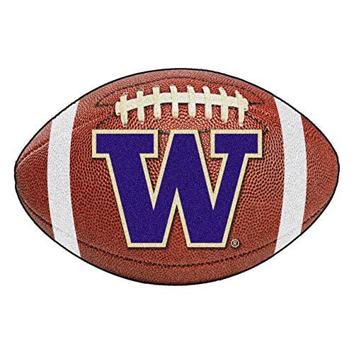 (FANMATS NCAA University of Washington Huskies Nylon Face Football Rug)