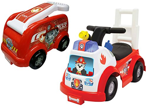 NEW! Paw Patrol Marshall Ride-On and Paw Patrol Roll N Go Fire Engine Wagon, Red - Ride In A Fire Truck Costumes