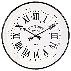 Distressed Old Town Wall Clock