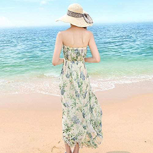 Shown Sleeveless Seaside Kleider As Print Sommer Dress langen Beach Rock z4qgqTnZ