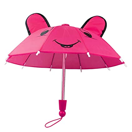 Ouneed Paraguas accesorios para 18 pulgadas chica americana/Baby nacido muñecas hechas a mano al