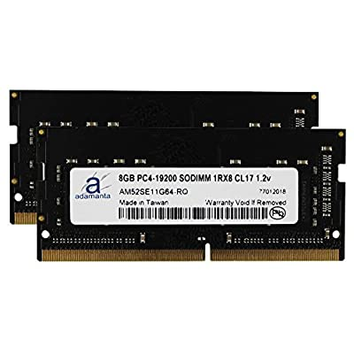 Image of Adamanta 16GB (2x8GB) Laptop Memory Upgrade for Asus ROG, Acer Aspire, Acer Predator, Acer Travelmate DDR4 2400Mhz PC4-19200 SODIMM 1Rx8 CL17 1.2v RAM DRAM Memory