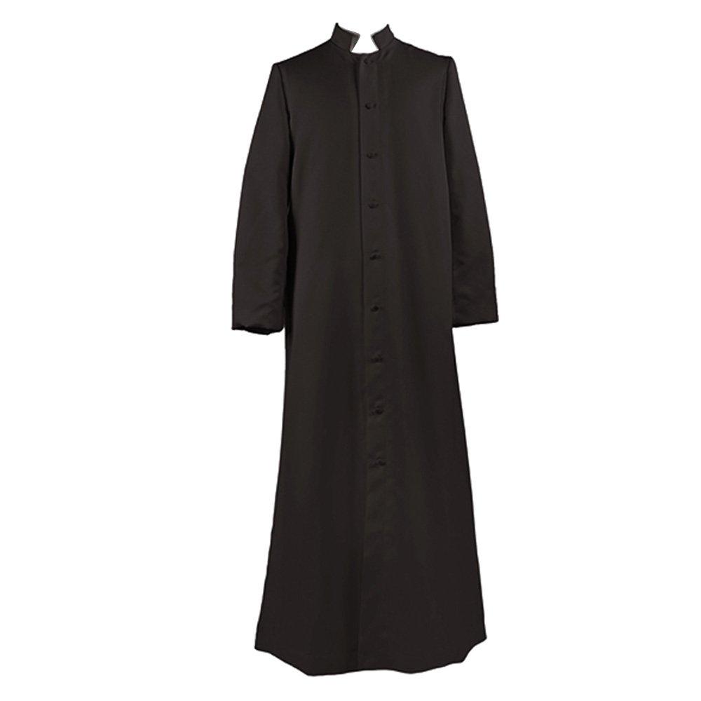 Ivyrobes Unisex Adults Black Roman Pulpit(Clergy) Cassock ((5'3''-5'5'') Chest49)