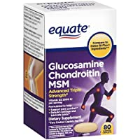 Equate - Glucosamine Chondroitin MSM, Triple Strength, 80 Coated Caplets (Compare to Osteo Bi-Flex)