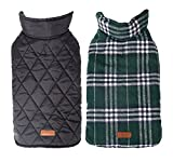 YAAGLE Warm Double-sided Waterproof Thick Pet Jacket Dog Coat Clothing Apparel