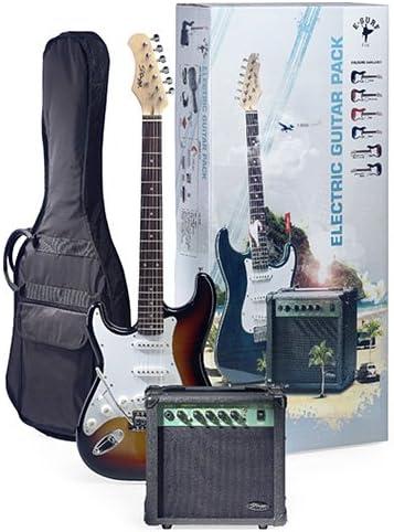 Stagg eSurf 250 LH SB Sunburst paquete de la guitarra eléctrica ...