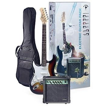 Stagg eSurf 250 LH SB Sunburst paquete de la guitarra eléctrica con el amperio y la carcasa izquierda: Amazon.es: Instrumentos musicales