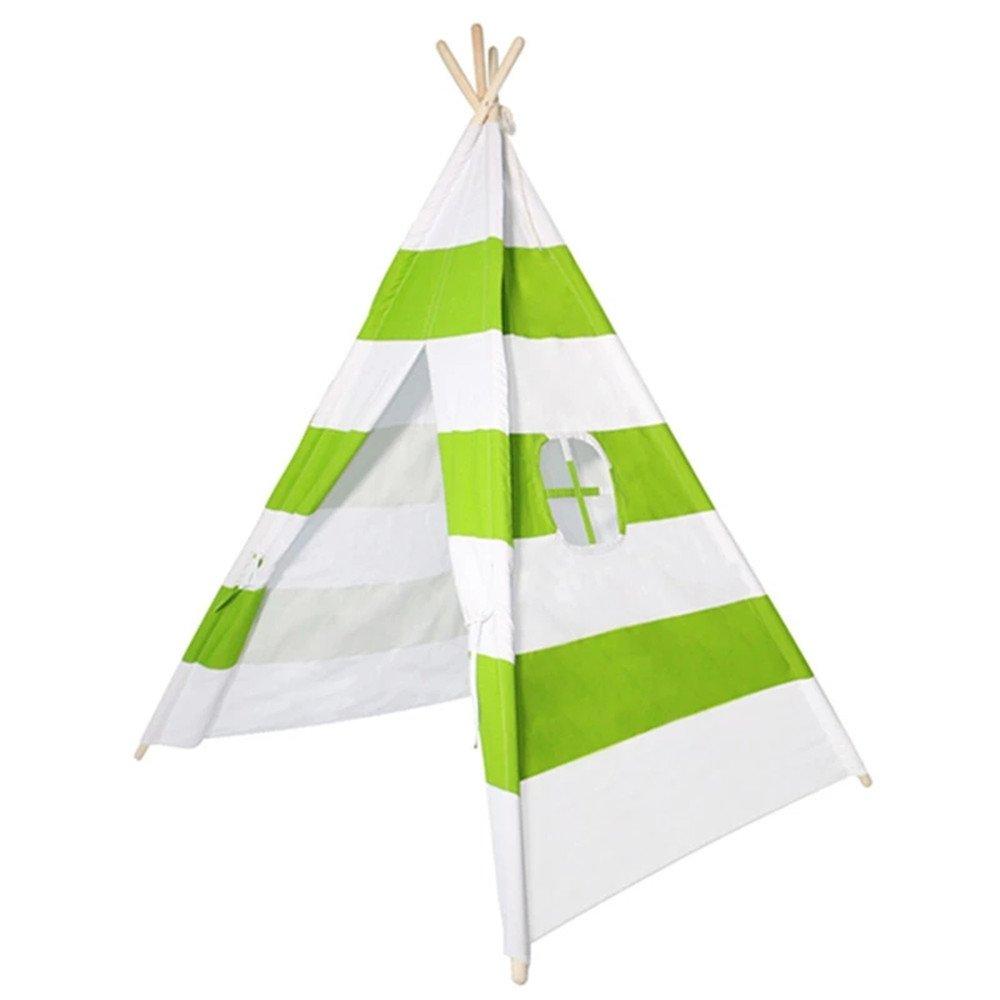 Rwy Zelt-Indische Kundengerechte Grüne Und Weiße Streifen-Inder-Puppenhaus-Tragbare Baby-Spiel-Haus-Kinder,Grün