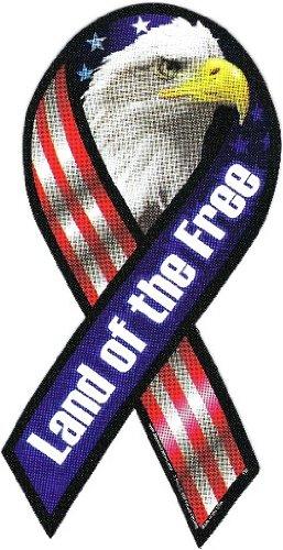 Eagles Magnet Ribbon - Americas & Americas Land of The Free Eagle Ribbon Magnet