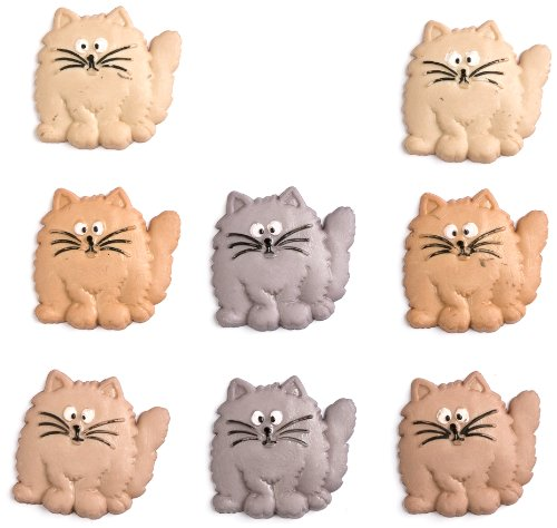 Jesse James (1-Pack) Dress It Up Button Fun Collection #5830 Fat Cats 5830-1P