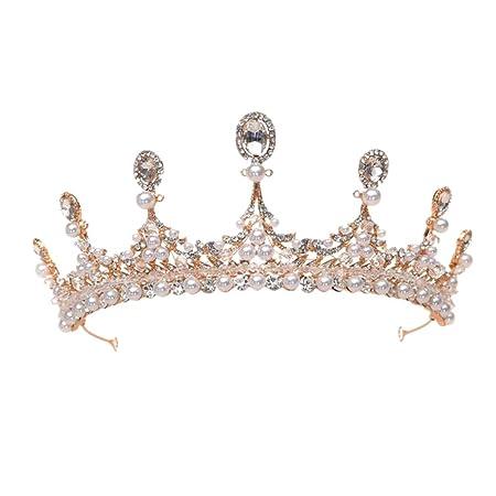 RXHCO Corona Tiara Crystal Crowns Tiaras Wedding Hair ...