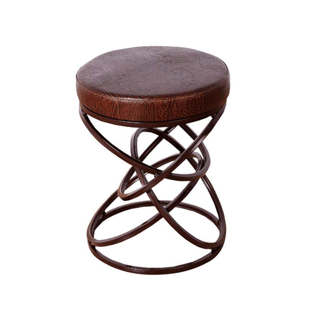 FLYSXP Creative Wrought Iron Stool Simple Personality Bedroom Home Sofa Chair Stool