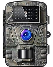Victure Fotocamera da Caccia 12MP 1080P Fototrappola Infrarossi Invisibili Movimento Attivato 0.5s a Scatto Modalita' Notturna con 2.4 Pollici Schermo LCD Impermeabile IP66 Camera per la Caccia