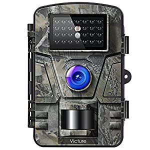 Victure Wildlife Camera 16MP 1080P Trail Game Camera Motion Activated Infrared Night Vision with 2.4″ LCD Display IP66 Waterproof Design for Outdoor and Home Security