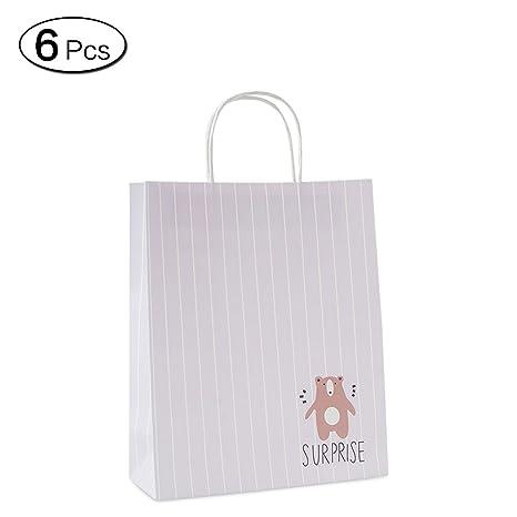 Amazon.com: Jia Hu 6pcs Lovely Animal bolsa de papel de ...