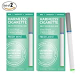 Harmless Cigarette / Quit Smoking Aid / Stop Smoking Remedy / Helps Reduce Cravings / Satisfying & Effective (2 Pack, Fresh Mint)