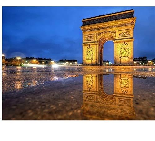 GIZIGI Triumphal Arch 5D DIY Diamond Painting Landscape Full Square 40X50 cm Frameless