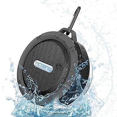 VicTsing Wireless Bluetooth 3.0 Waterproof Outdoor / Shower Speaker, with 5W Speaker/Suction Cup/Mic/Hands-Free Speakerphone - Gray