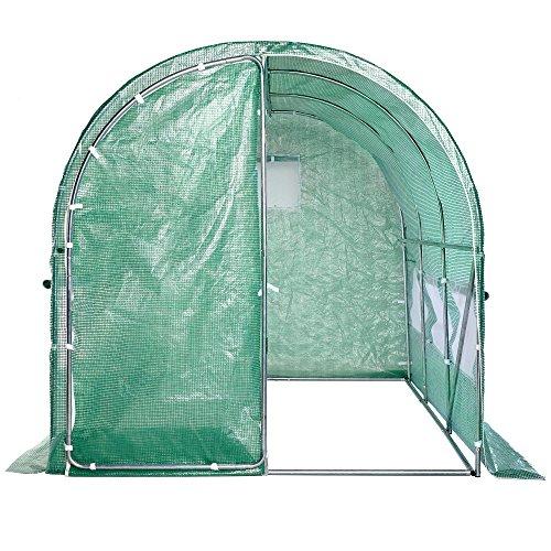 Vonhaus Polytunnel Greenhouse 3m X 2m Walk In