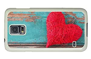 Hipster Samsung Galaxy S5 Case discount covers wool heart PC White for Samsung S5
