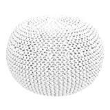 Hoooked Crafts Eco DIY Crochet Knit Box Gift Kit - Pouf - Off White (Zpagetti)
