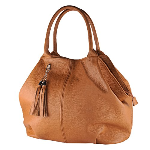 100 Cuir Femme Sac Clair Italy Borderline En In Made Brun Giada TdZWwnU