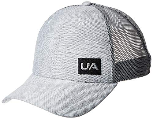 Under Armour Men's Blitzing Trucker 3.0 Cap, Mod Gray (011)/Black, One Size Fits all (Under Armour Hats For Men)