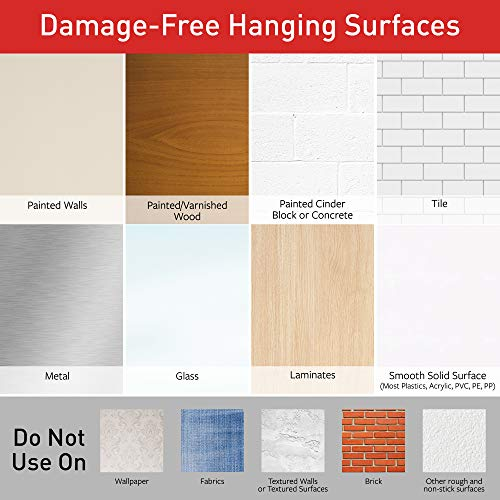 Large Product Image of Command Damage-Free Large Picture Hanging Strips, White, 4 pairs hold 16 pounds, Decorate and Hang Damage-Free, Indoor, Gallery Wall Pack