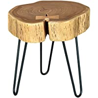 Moes Home Collection Mabel Solid Acacia Wood Side Table