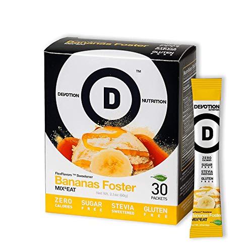 Devotion Nutrition Flex Flavors, Bananas Foster Stevia Instant Flavoring, Sugar Free Sweetener, Zero Calories, 30 Count