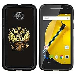 """Be-Star Único Patrón Plástico Duro Fundas Cover Cubre Hard Case Cover Para Motorola Moto E2 / E(2nd gen)( Royal Golden Phoenix Eagle Crest"""" )"""