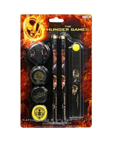 Peeta And Katniss Costumes (Neca - The Hunger Games 7-Piece Stationery Set Katniss & Peeta)