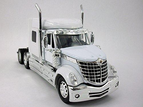 International Lone Star (Lonestar) Truck Diecast Metal 1/32 Scale Truck Model - WHITE (Diecast Semi Truck)
