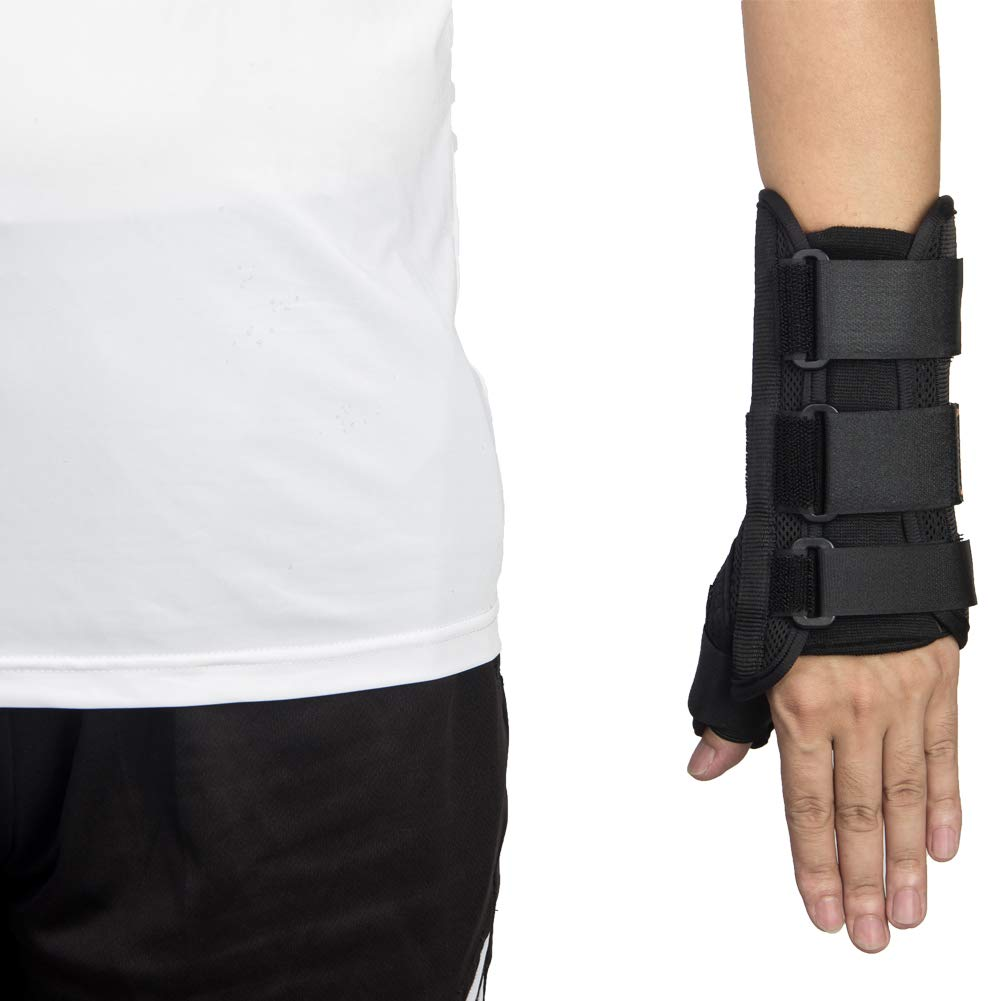 Thumb & Wrist Spica Splint, Adjustable Supportive Wrist Braces for Arthritis, Carpal Tunnel, Soft Tissue Injuries & Trigger Thumb Immobilizer Medium-Left by Medibot (Image #1)